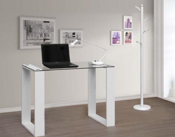 Mesa de escritorio de cristal sencilla for Mesa cristal ikea escritorio