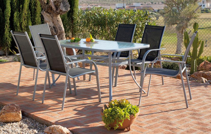 Juego comedor exteriores en oferta 2012 madrid lugo pontevedra for Mesas de comedor para exterior