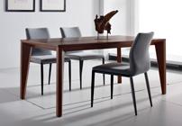Mesa extensible nogal americano + 4 sillas - Mesa de comedor extensible