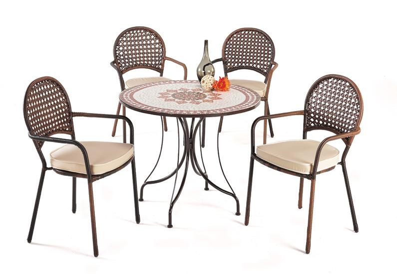 mesas mosaico redonda acero reforzadas baratas huesca