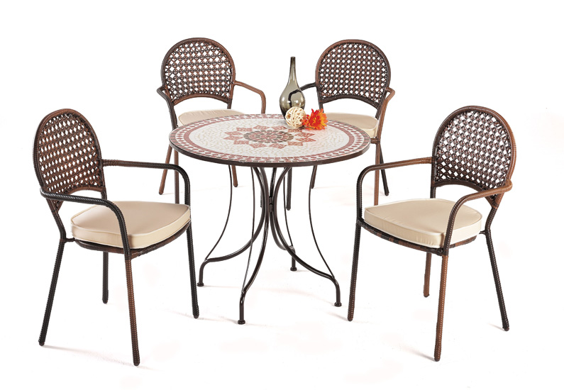 Mesas mosaico redonda acero reforzadas baratas huesca for Sillas jardin baratas
