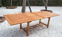 Mesa rectangular extensible madera Teca - Mesa rectangular extensible madera de Teca