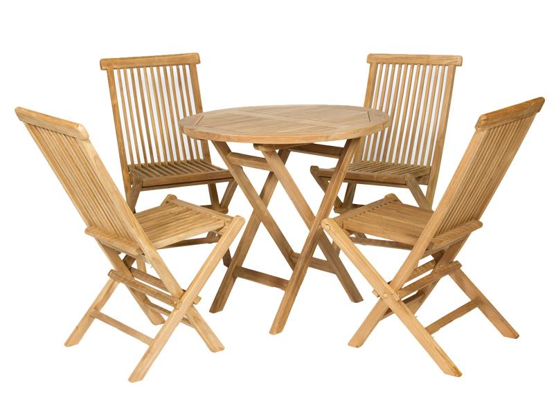 Mesa y sillas Teca exteriores - Mesa y sillas de Teka para exteriores