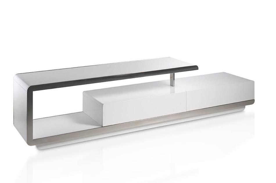 Mesa de v curva muy moderna for Mesas para tv modernas