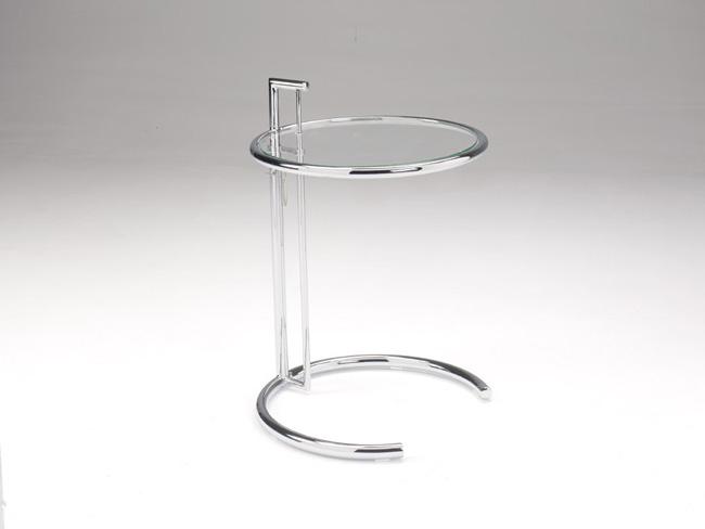 Mesa de rincon de cristal y cromo elevable - Mesita salon elevable ...