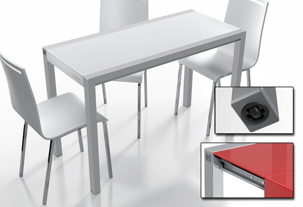 Mesa de cocina fija varias medidas for Mesa cocina moderna