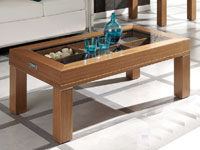 Mesa de centro expositora - Mesa acero y madera