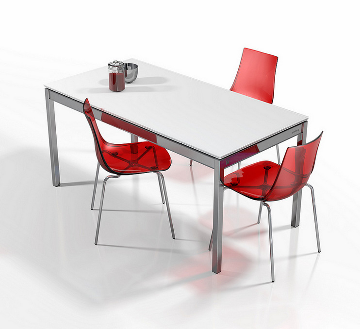 Mesa extensible aspecto robusto de madera - Mesas modernas de cocina ...