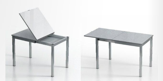 Mesa extensible cuadrada tipo libro - Mesas de comedor tipo libro ...