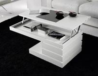 Mesa de centro elevable nogal - Mesas bajas de salón arcón elevable