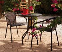 Set sillones y mesa de acero modelo Edir - Set sillones y mesa de acero modelo Edir