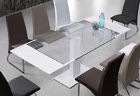 Mesa de comedor extensible pata central - Mesa de comedor de pata central