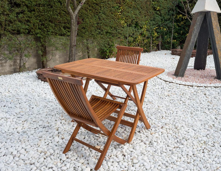 Mesa plegable madera teca maciza de calidad - Madera teca exteriores ...