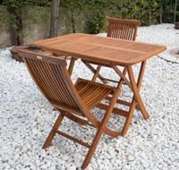 Mesa plegable madera Teca modelo Carmen - Mesa plegable madera Teca modelo Carmen