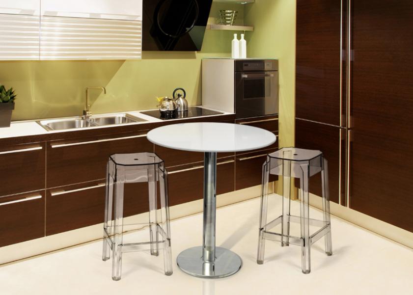Mesas de cocina redondas for Mesas altas de cocina