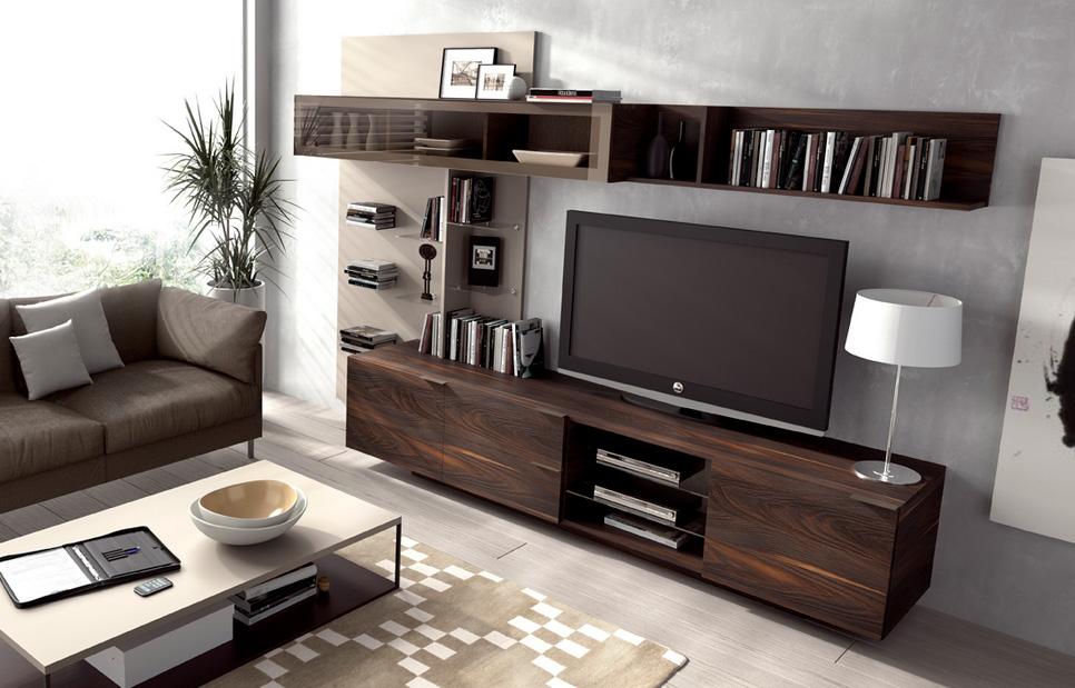 Mesa de tv madera moderno sevilla for Bar en madera moderno