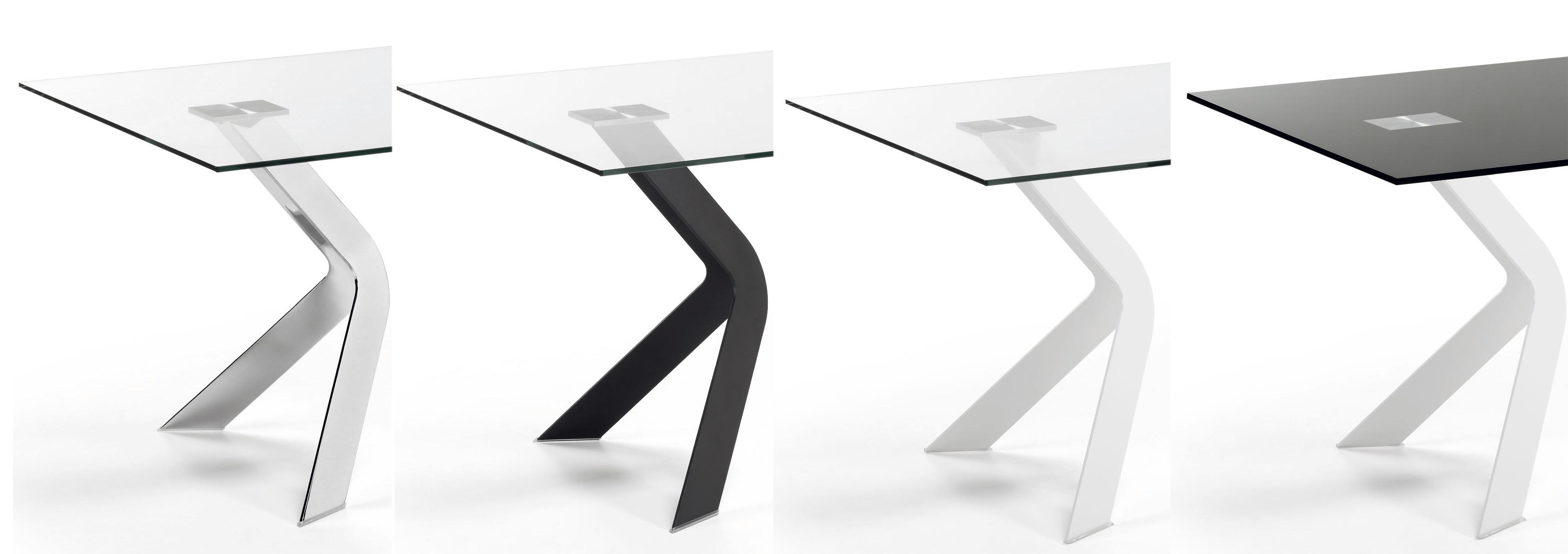 Mesa de dise o de cristal patas metalicas - Patas para comodas ...