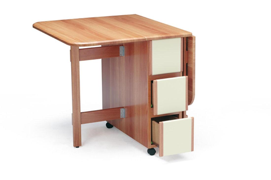 Mesa de alas de cocina y cajones - Mesas abatibles para cocina ...