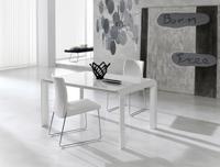 Mesa de comedor extensible de formas redondeadas - Mesa de comedor extensible con formas redondeadas