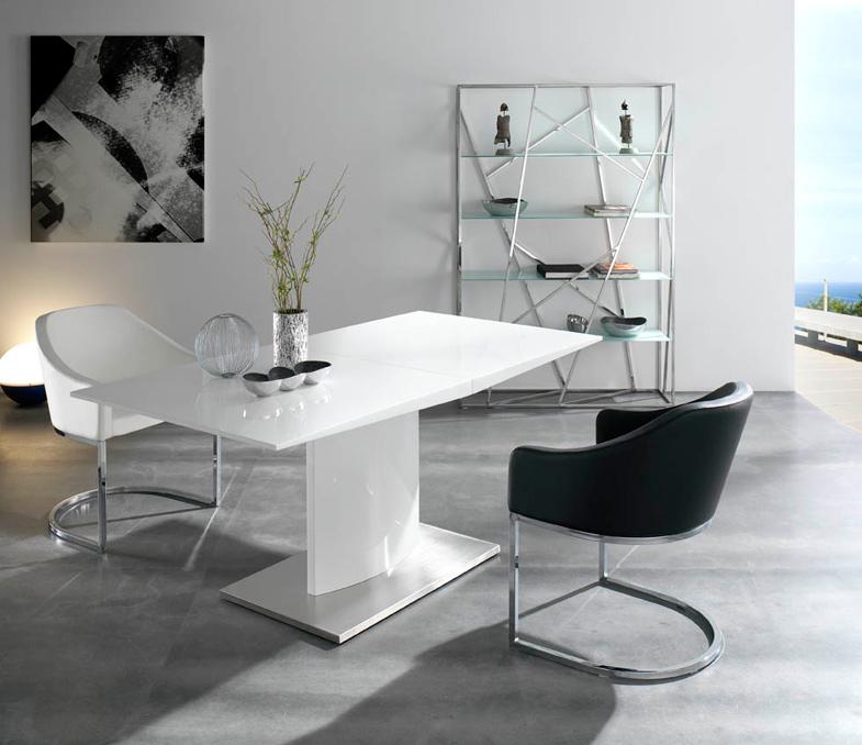 Silla comedor tapizada con asiento acolchado - Salon comedor pequeno ...