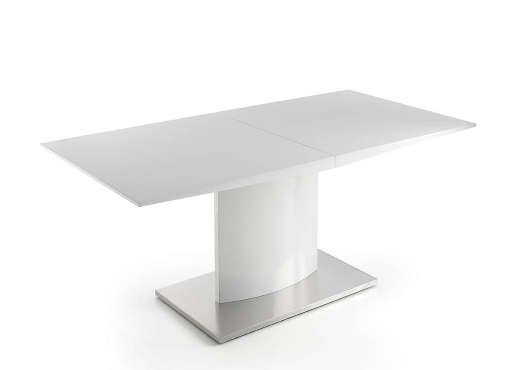 mesa pata central extensible blanco san cugat
