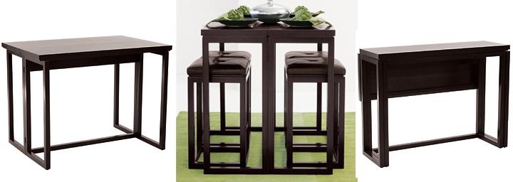 Mesa alta con taburetes ideal para cocina y comedor for Mesas altas de cocina