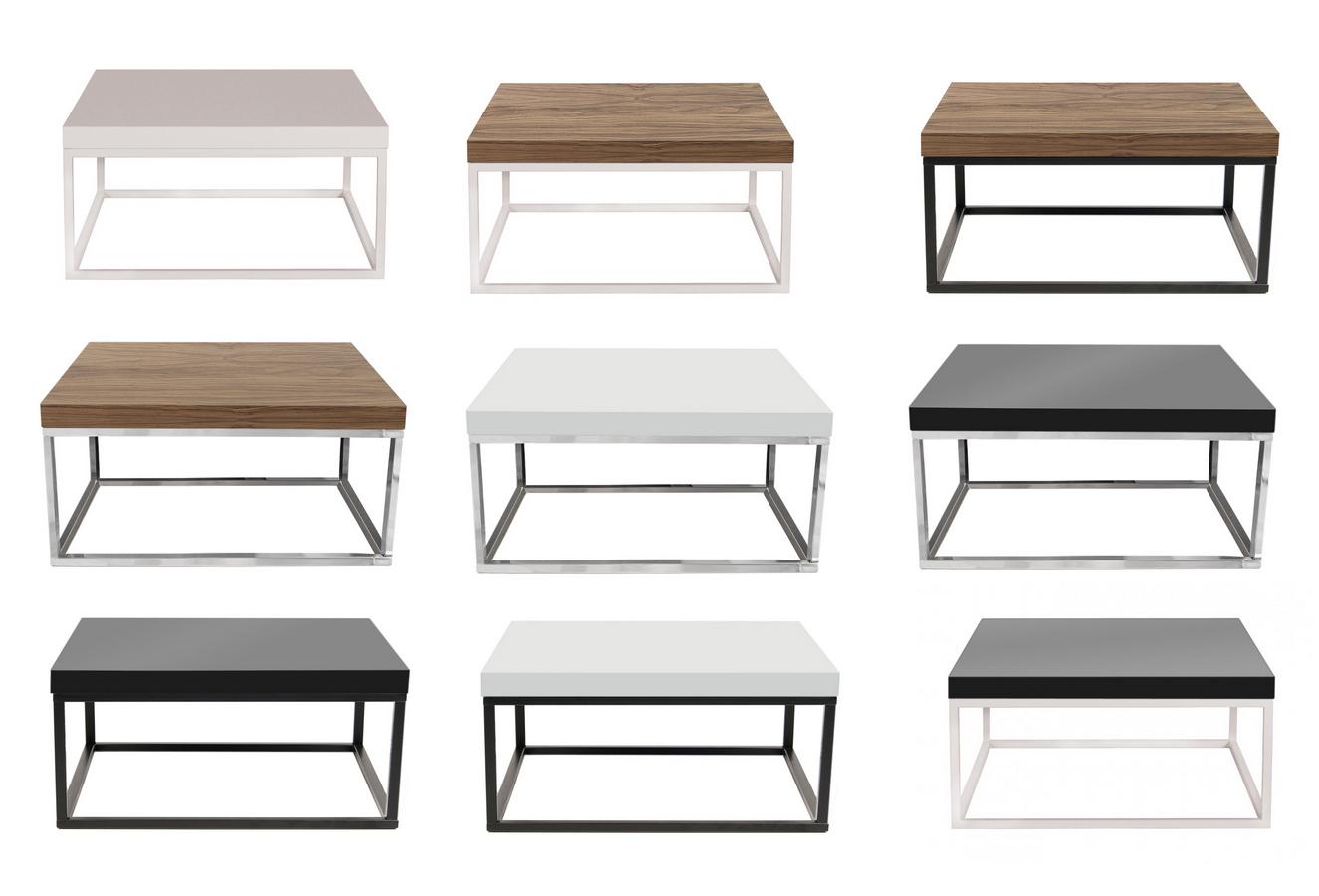 Mesa de centro moderna madera metal muebles madrid for Mesa de centro blanca