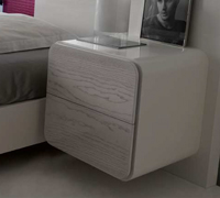Dormitorio cama matrimonial mesita de noche for Mesita noche colgante