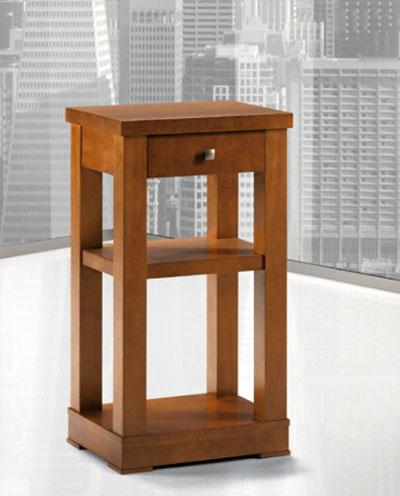 Mesa telefonera cajon peque a bonita madera pamplona almer a for Mesillas madera natural