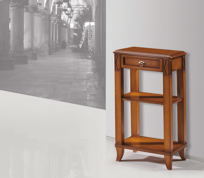 Mesa telefonera madera tallada haya chapa madrid mijas malaga for Mesa telefonera