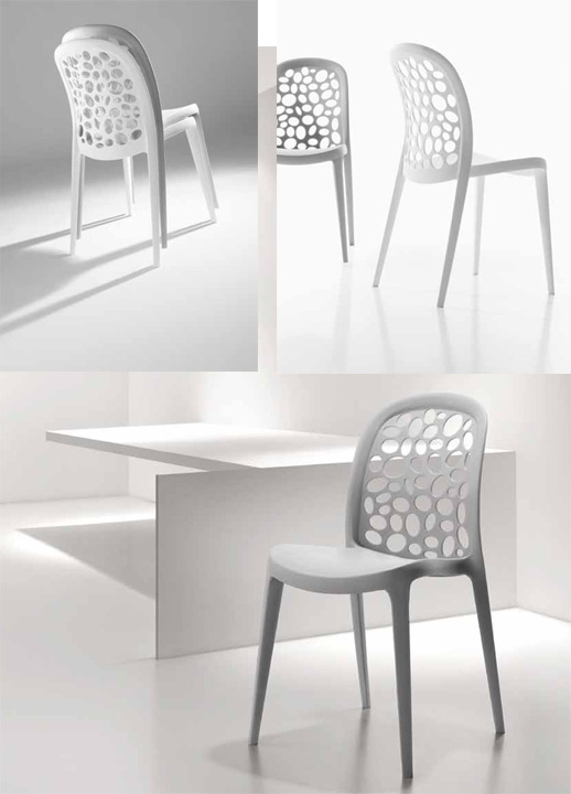 Sillas blancas grises for Modelos de sillas clasicas