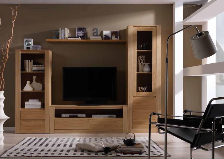 Mueble salon moderno narvik 3 mia home for Muebles salon madera natural