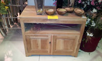 Mueble o mesa de TV madera natural - Mesa de TV madera natural