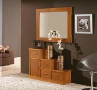 Consola y espejo de chapa Haya 9 - Consola y espejo de chapa de Haya