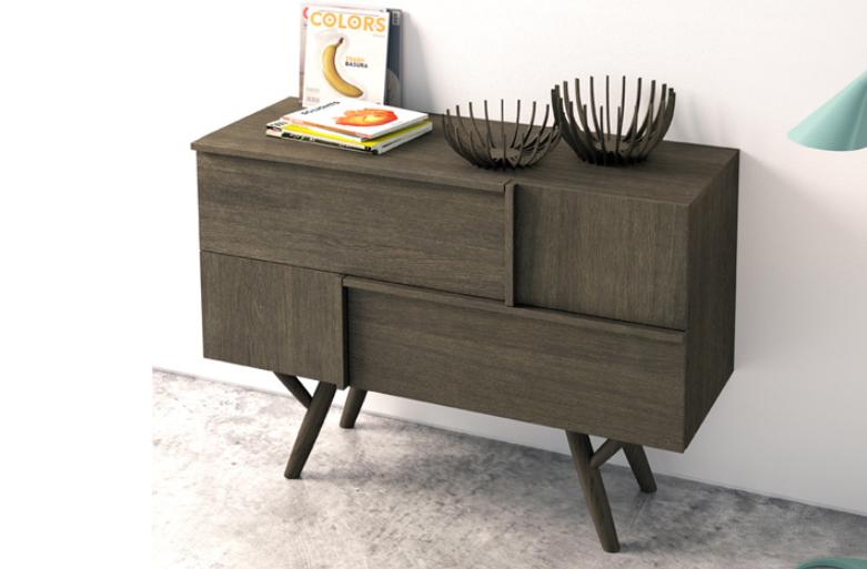 Mia home muebles nordic madera roble barcelona madrid for Zapateros de madera de roble