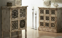 Muebles auxiliares de madera natural asiaticos - Muebles de madera natural