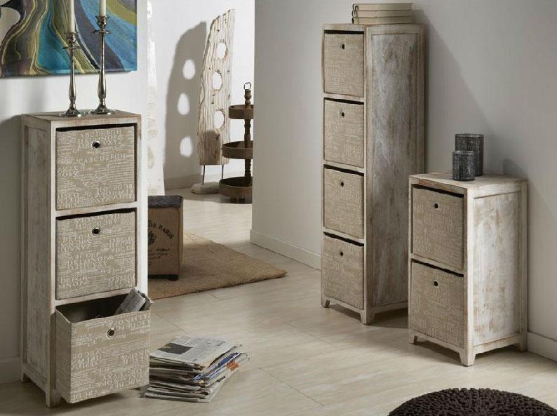 Muebles aparadores entrada rusticos verticales for Muebles con cajones de madera