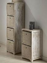Muebles rústicos cajoneras verticales - Muebles de madera natural