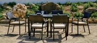 Mesa de comedor exterior - Set de comedor exterior con 4 sillones.