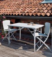 Set 2 sillas y mesa de resina plegables para exteriores - Set 2 sillas y mesa de resina plegables para exteriores, duradera y de alta calidad
