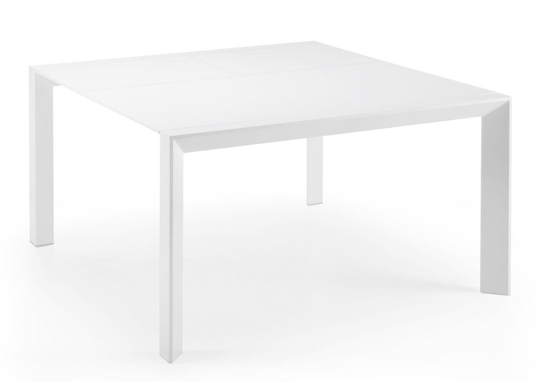 Mesa cuadrada blanca for Mesa cuadrada extensible