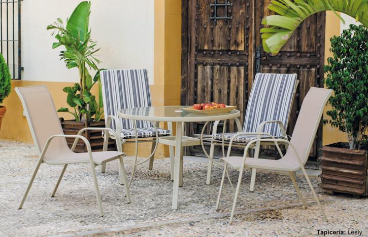 Set jardines terrazas piscina verano acero sillones mesa for Sillones para exteriores precios