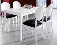 Mesa de comedor y sillas 519 - Mesa de comedor patas curvas