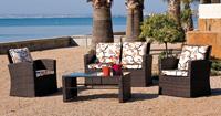 Juego de muebles para intemperie BORNEO - Juego de muebles para terraza o jardín Palace