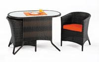 Set de sillones, mesa y cojines modelo PALENCIA - Set de sillones, mesa y cojines PALENCIA