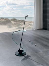 Paragüero moderno - Paragüero moderno de cristal en forma de s