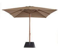 Parasol cuadrado beige - PARASOL cuadrado mastil  de aluminio color madera Sombrilla.