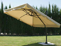 Parasol lateral inclinable - Rotación de 360º, distintos niveles de inclinación