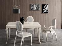Sillón de comedor tapizado 20 - Silla de madera para comedor clásica