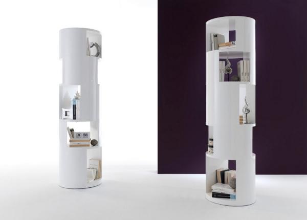 Estanteria moderna en forma cilíndrica - Estantería moderna en forma de cilindro